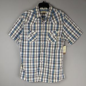 Sonoma | Pearl Plaid Snap Button Shirt Large New